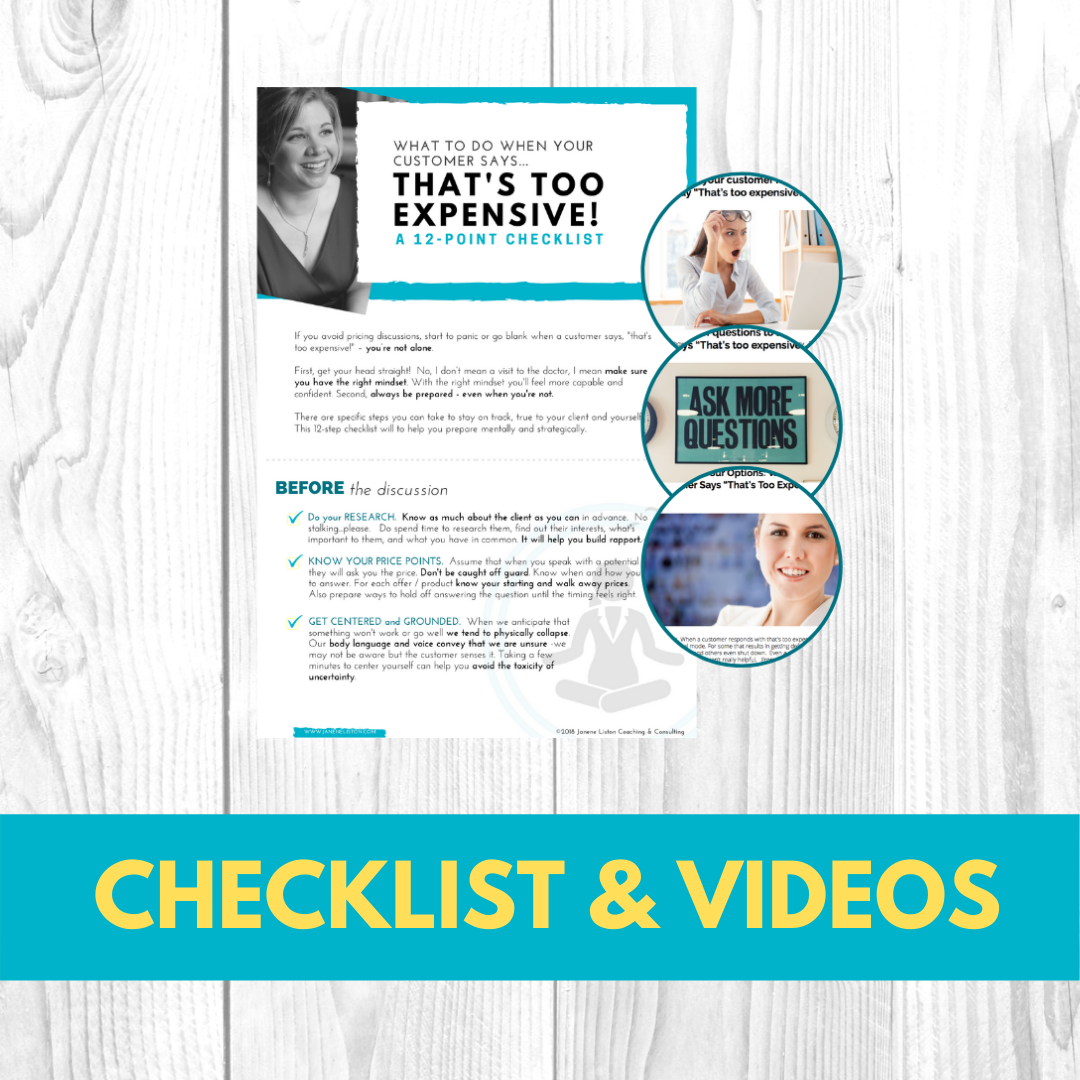 Too Expesive Checklist & Videos