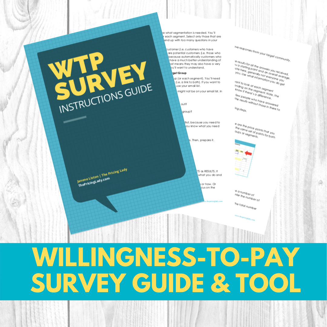 Williness-to-pay Survey Guide & Tool