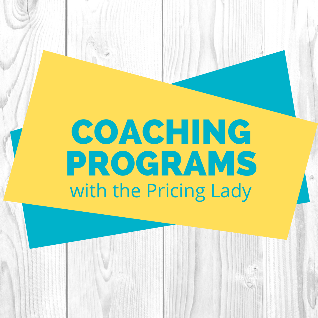 Coaching Programs with the Pricing Lady