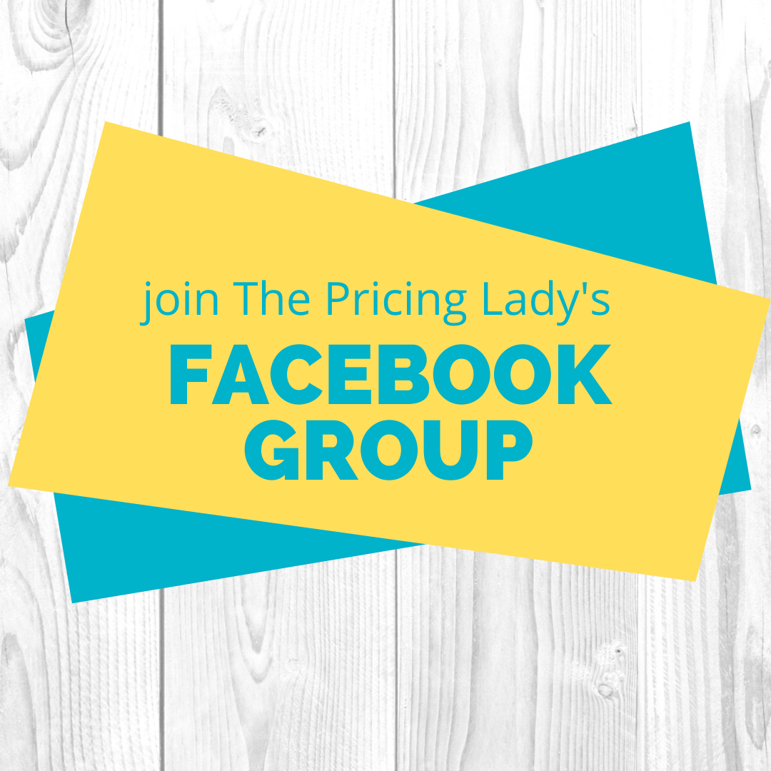 Join the Pricing Lady's FB Group